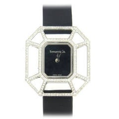 Tiffany & Co. Paloma Picasso Lady's White Gold Diamond Puzzle Quartz Wristwatch
