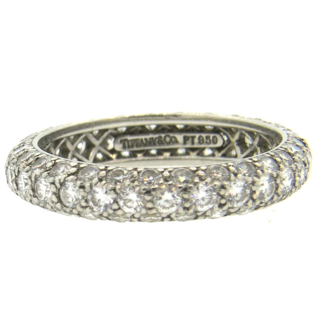 Tiffany And Co Etoile Platinum Diamond Eternity Wedding Band Ring At 1stdibs