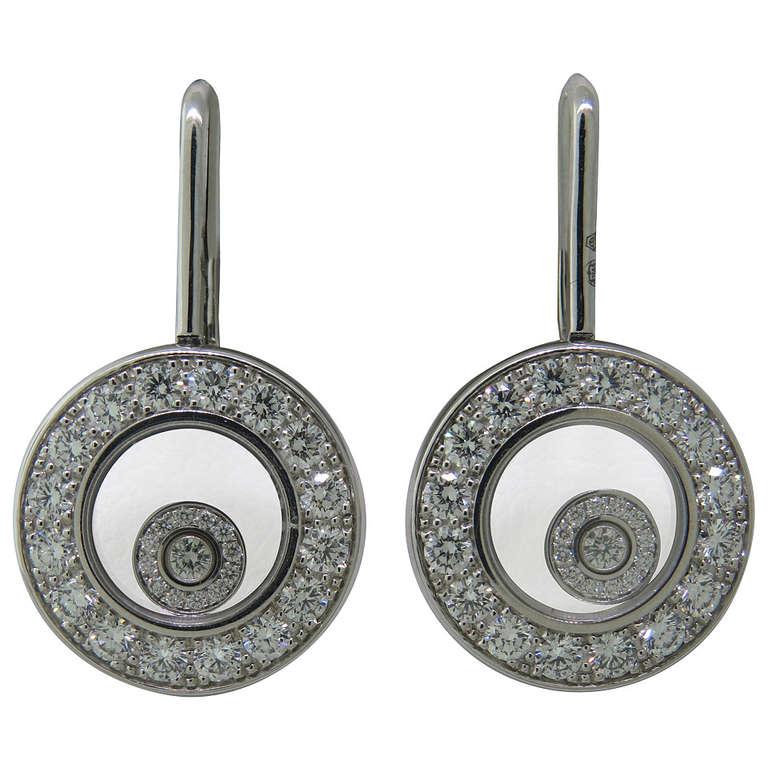 Chopard Happy Diamonds Diamond Gold Earrings