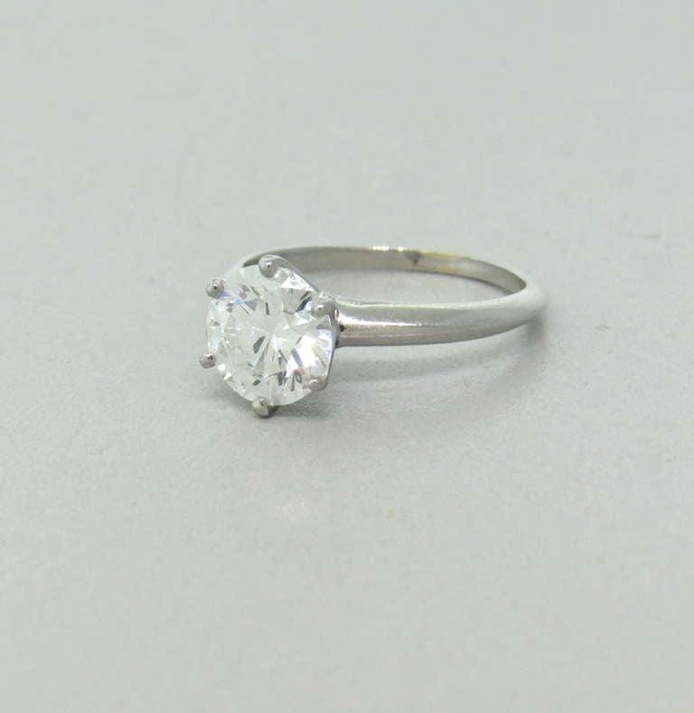 Tiffany and Co Platinum 2 02 carat Diamond Engagement Ring at 1stdibs