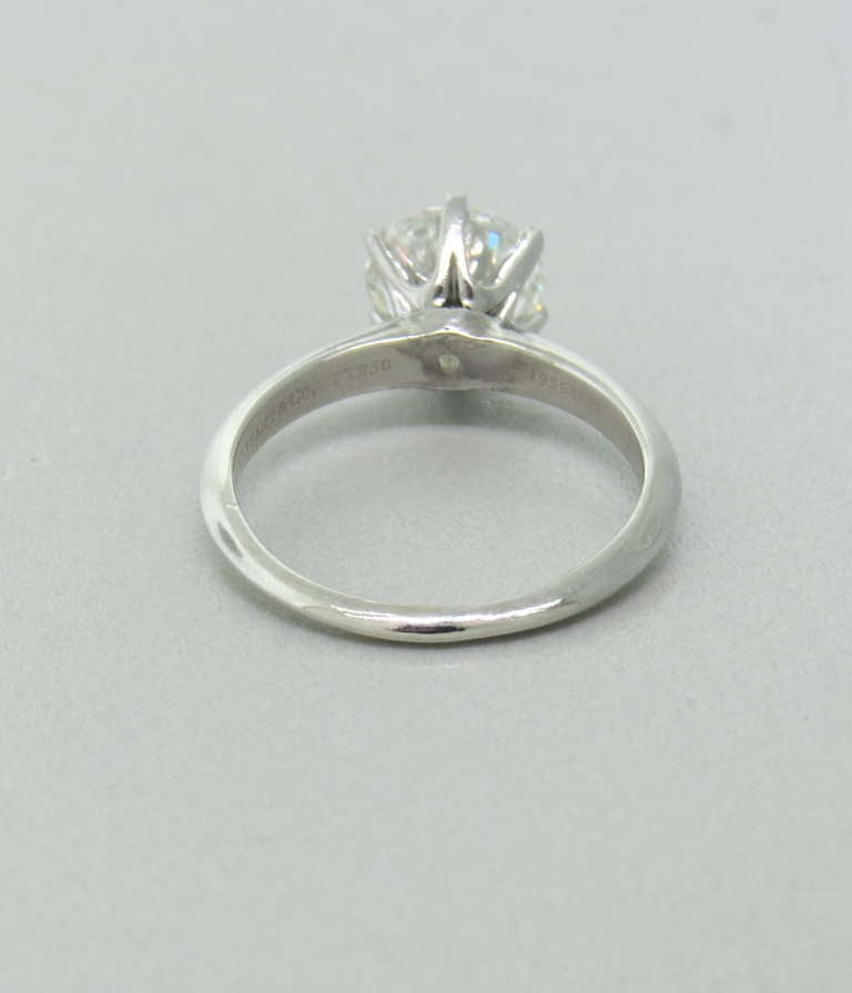 Tiffany and Co Platinum 2 02 carat Diamond Engagement Ring at 1stdibs