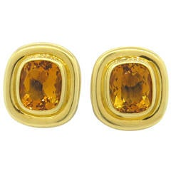 Tiffany & Co. Paloma Picasso Citrine Gold Earrings