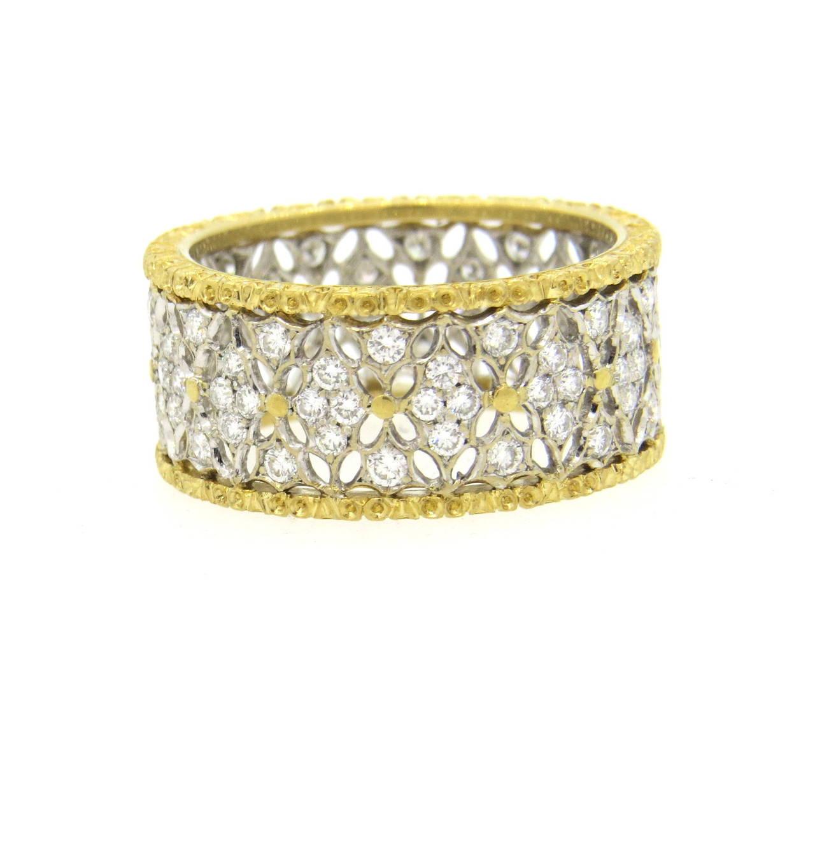 Buccellati Gold Diamond Band Ring 2