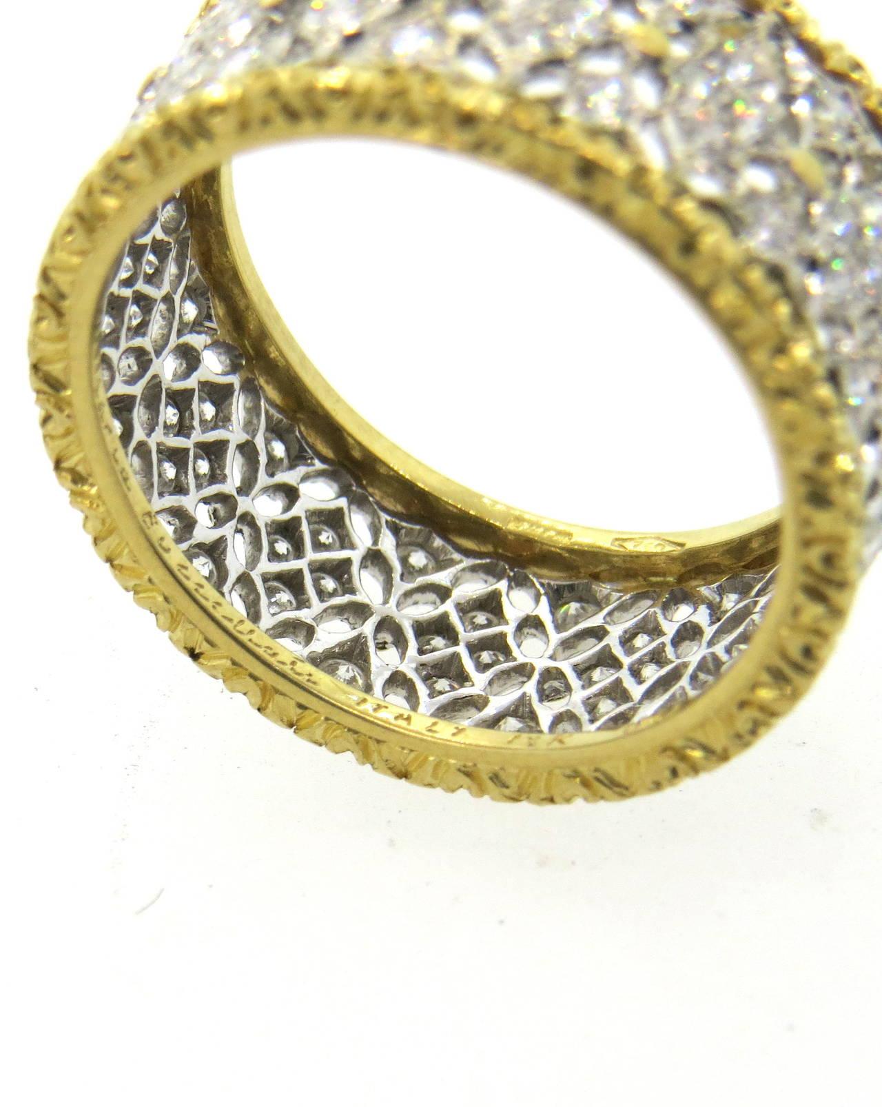 Buccellati Gold Diamond Band Ring 3