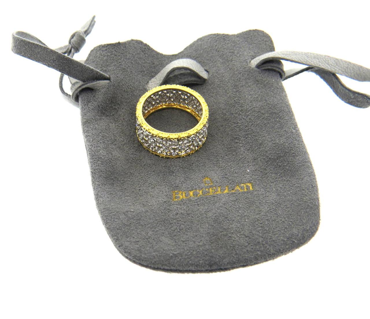 Buccellati Gold Diamond Band Ring 5
