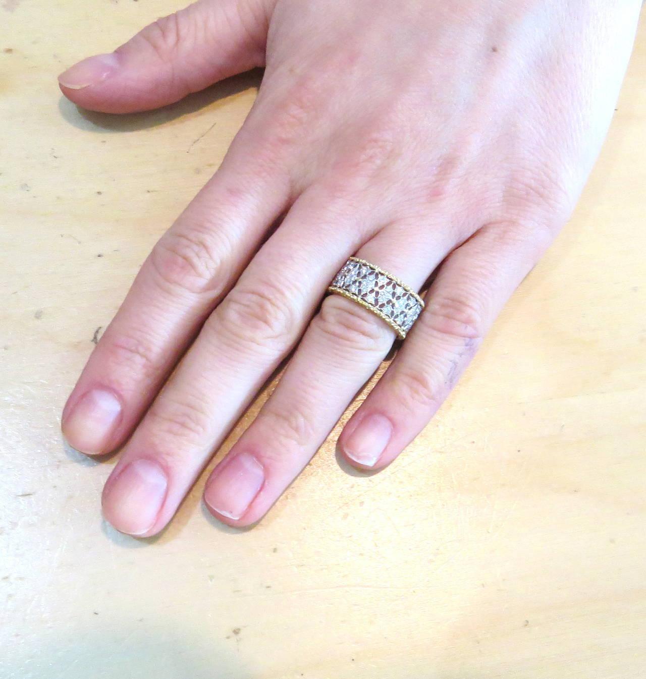 Buccellati Gold Diamond Band Ring 4