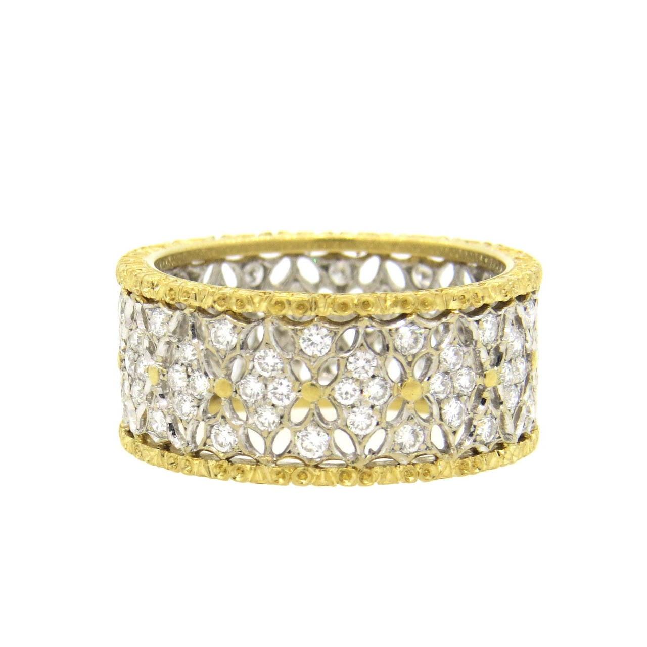 Buccellati Gold Diamond Band Ring 1