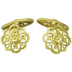 French Antique Gold Cufflinks