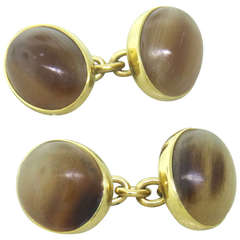 Trianon Gold Agate Cufflinks