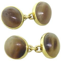 Trianon Gold Agate Cufflinks