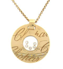 Chopard Floating Diamond Gold Chopardissimo Pendant Necklace