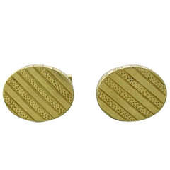 Tiffany & Co. Gold Oval Cufflinks