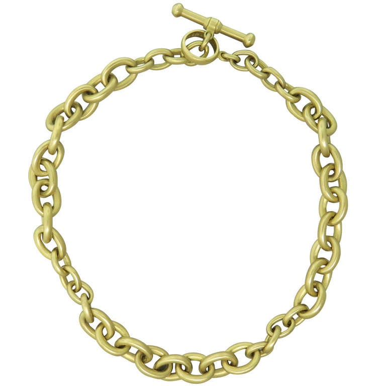 Barry kieselstein cord classic large gold link necklace at for Barry kieselstein cord jewelry