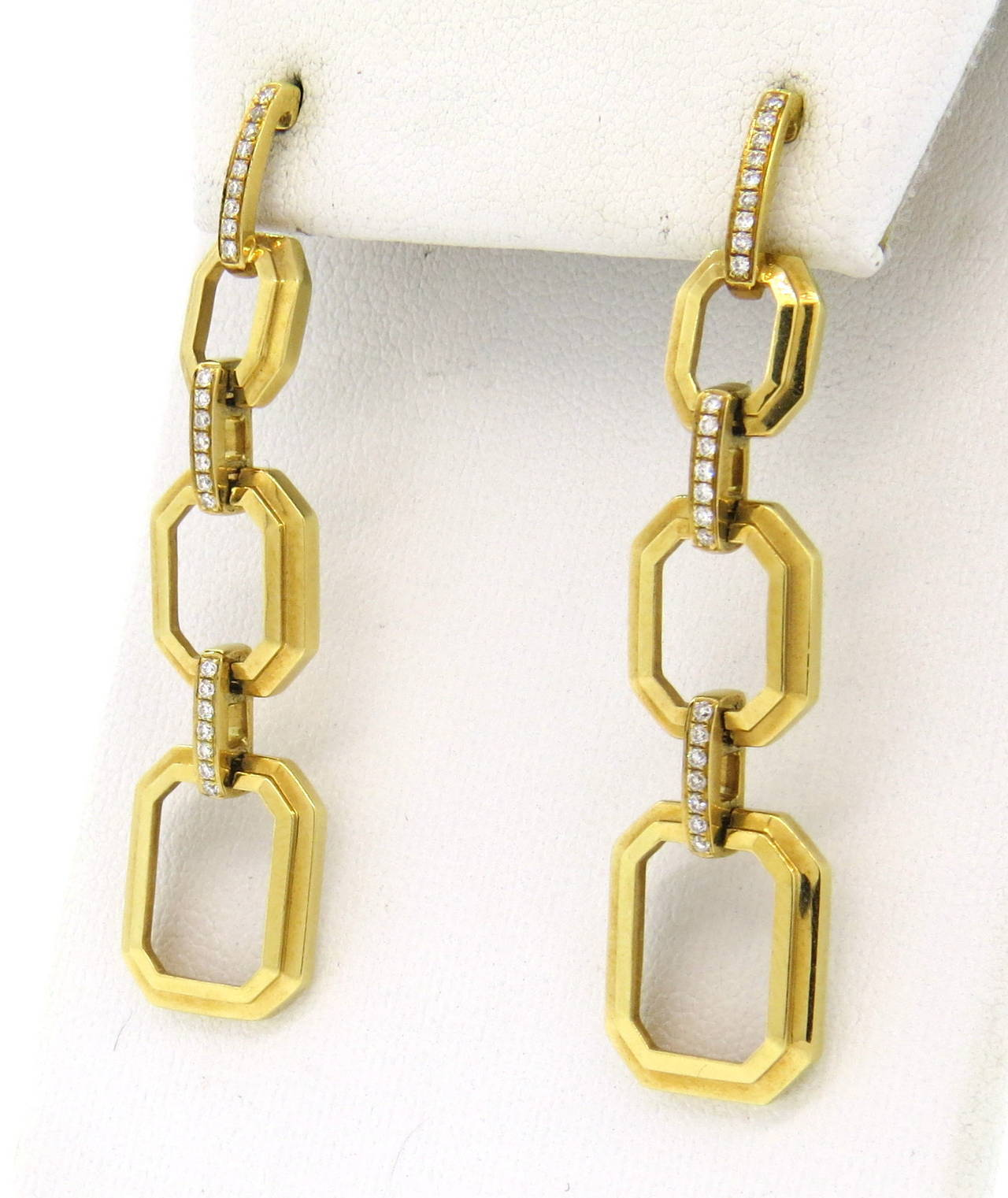 ivanka trump gold diamond drop earrings for sale at 1stdibs