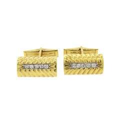 Fine Diamond Gold Cufflinks
