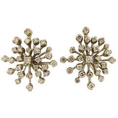 H. Stern Diamond Gold Snowflake Earrings