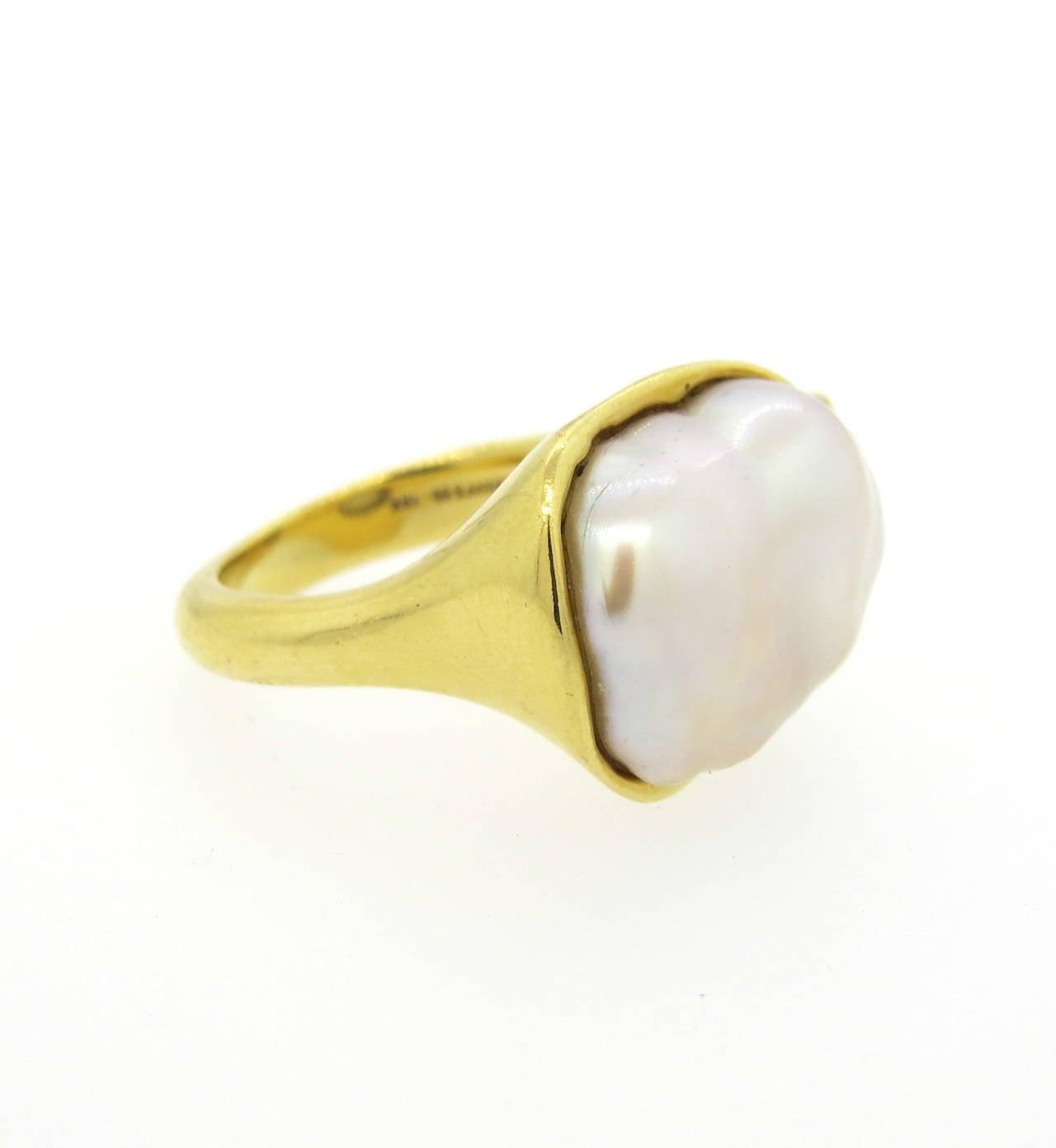 18k yellow gold ring  ...
