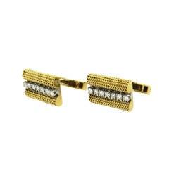 1970s Tiffany & Co. Diamond Gold Cufflinks