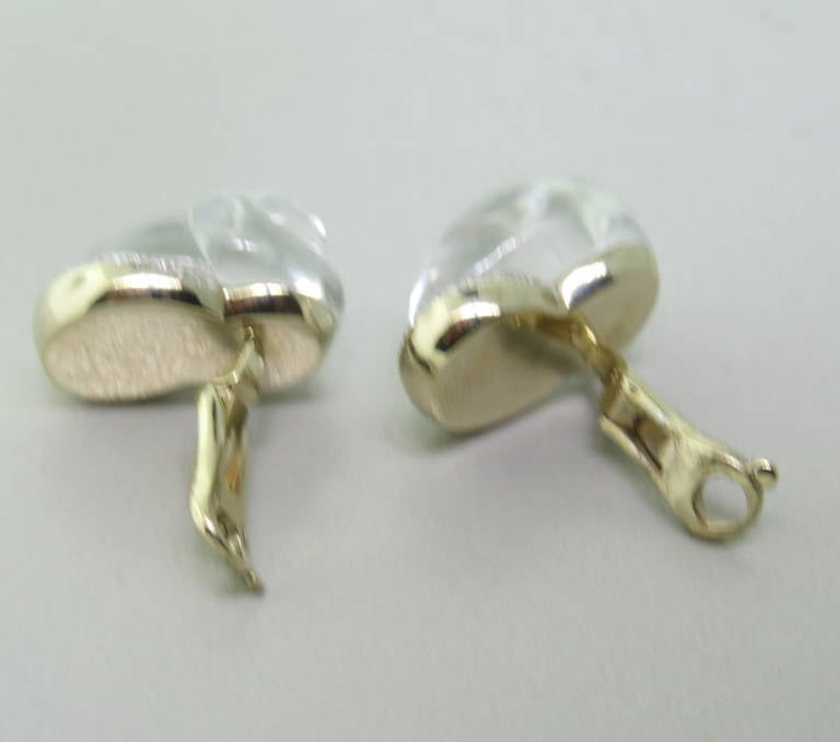 Vhernier Crystal Diamond Mother of Pearl Shell Earrings 4