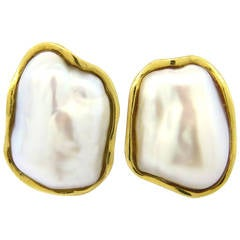 Tiffany & Co. Pearl Gold Earrings