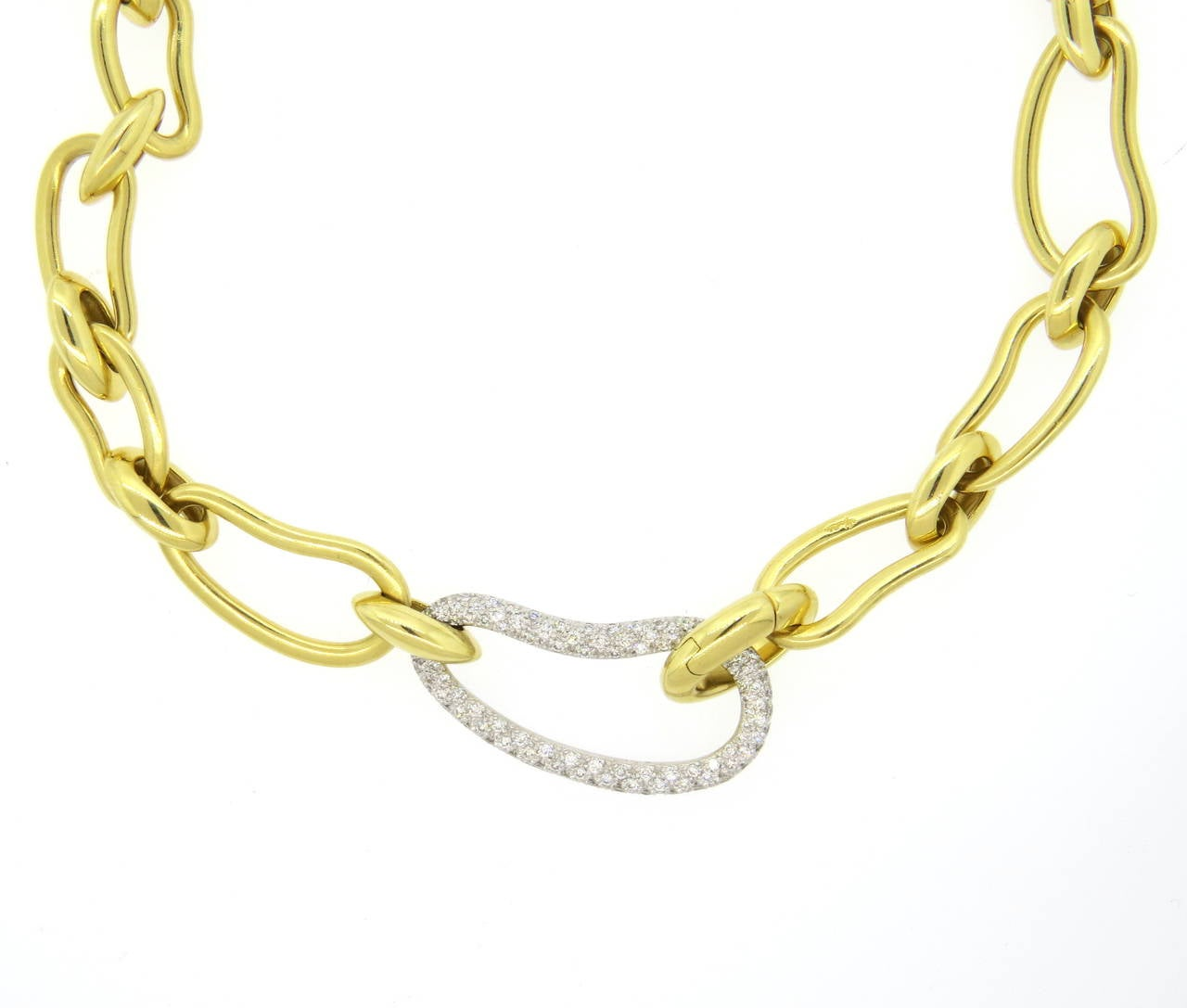 pomellato paisley gold large link necklace at 1stdibs