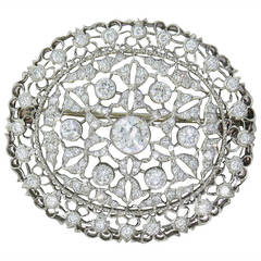 Buccellati Diamond Gold Brooch Pin Pendant