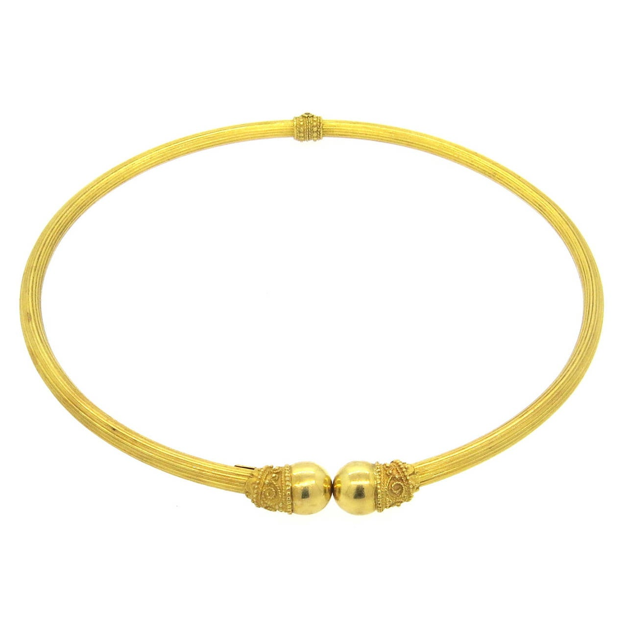 Ilias Lalaounis Gold Collar Necklace