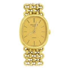 Patek Philippe Lady's Gold Bracelet Wristwatch Ref 4464