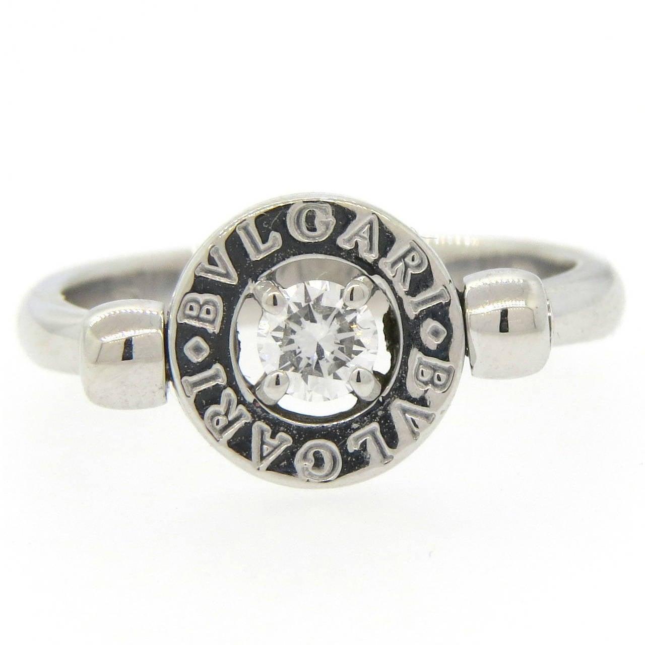 Bulgari Diamond Gold Flip Ring