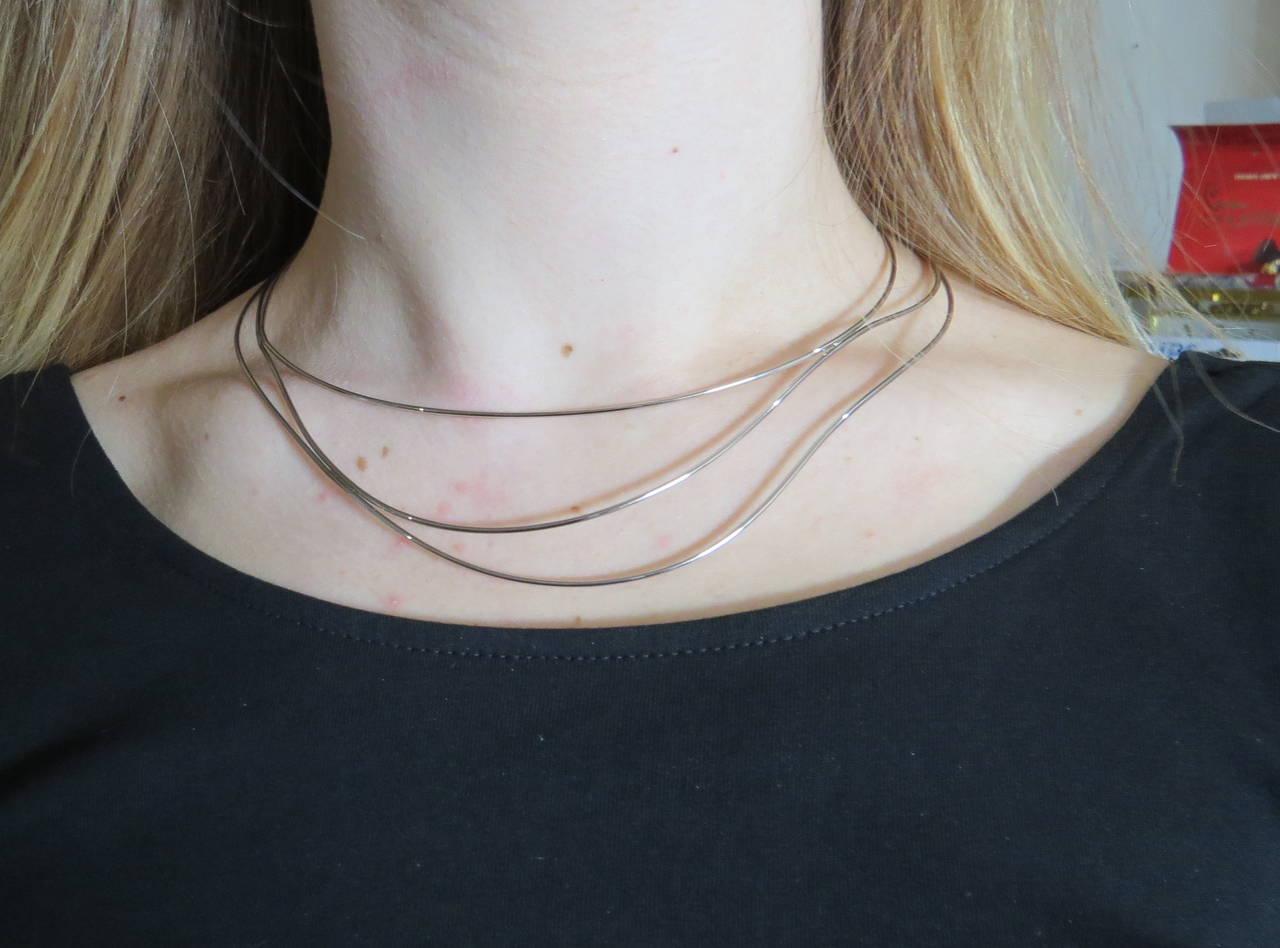 1b3d4f2290fbc Tiffany & Co. Elsa Peretti Gold Wave Necklace
