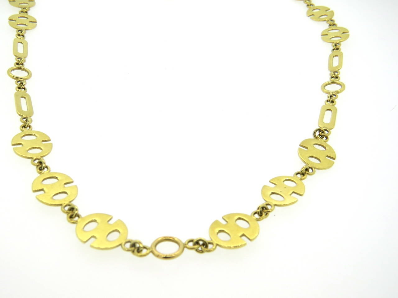 Women's 1970s Gold Link Necklace For Sale