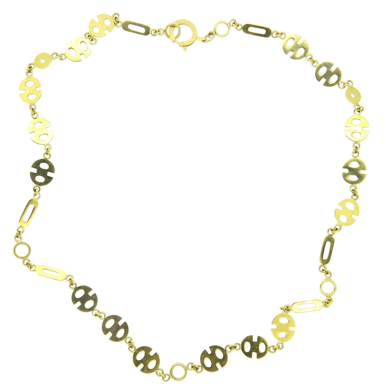 1970s Gold Link Necklace