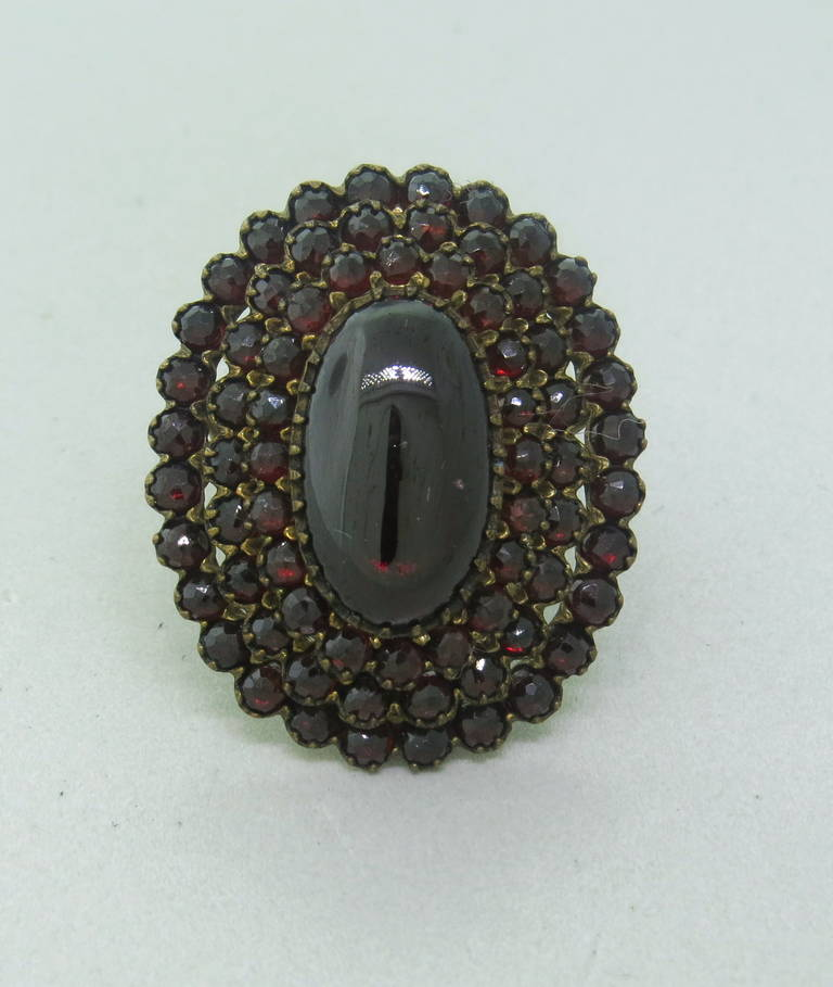antique bohemian garnet cocktail ring at 1stdibs