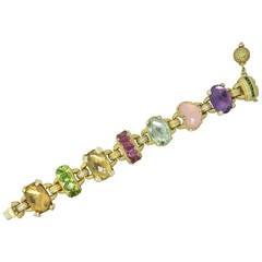Judith Ripka Ambrosia Gemstone Diamond Gold Bracelet