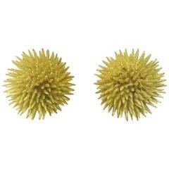 Tiffany & Co. Gold Sea Urchin Motif Earrings