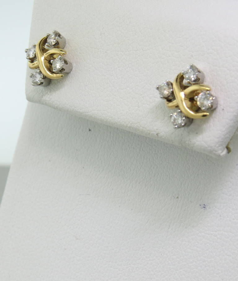 fc471aae3 18k gold and platinum earrings by Jean Schlumberger for Tiffany & Co from  current Lynn collection