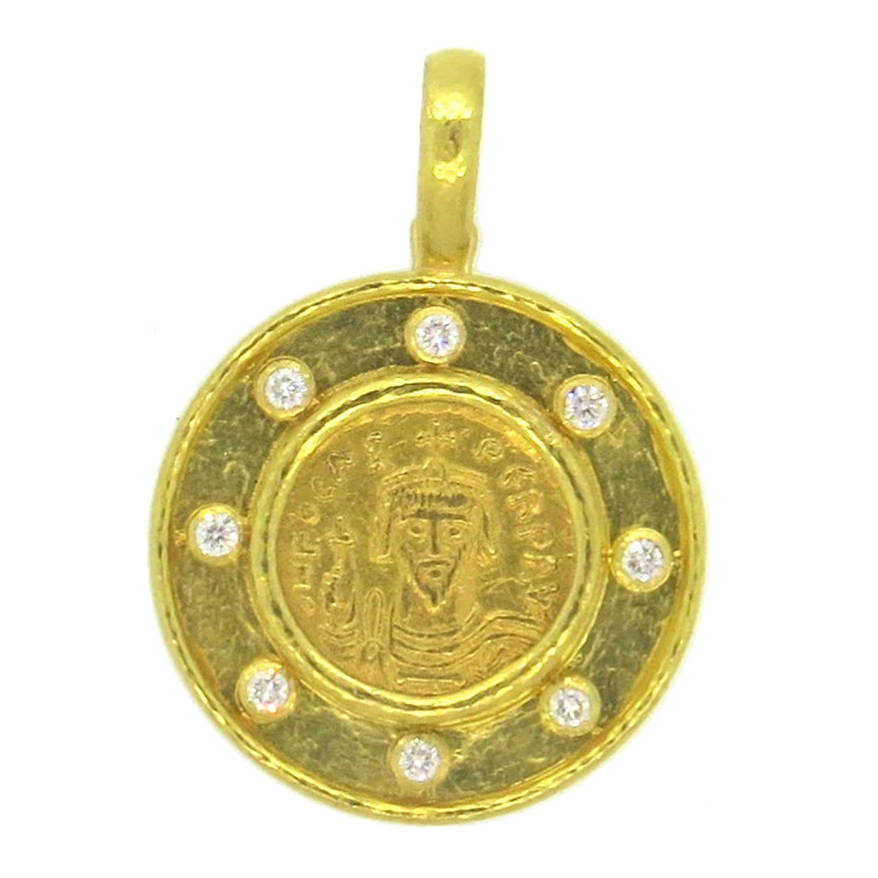 for j id bulgari link ancient gold sale necklace drop necklaces l jewelry roman pendant coin at