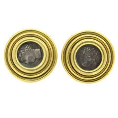 Bulgari Monete Ancient Coin Cufflinks  Gallia - Massilia
