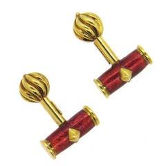Tiffany & Co Jean Schlumberger Enamel Gold Cufflinks