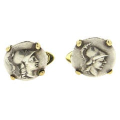 Bulgari Ancient Coin Gold Cufflinks