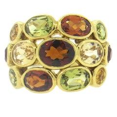 Temple St. Clair Bombe Multi-Color Gemstone Diamond Gold Ring
