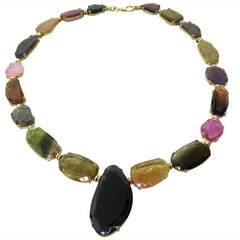 Tous Multicolor Gemstone Gold Necklace