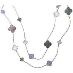 Van Cleef & Arpels Magic Alhambra Sixteen Motifs Necklace