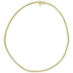 David Yurman Classic Gold Box Chain Necklace