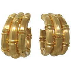 Cartier Bamboo Collection Gold Earrings