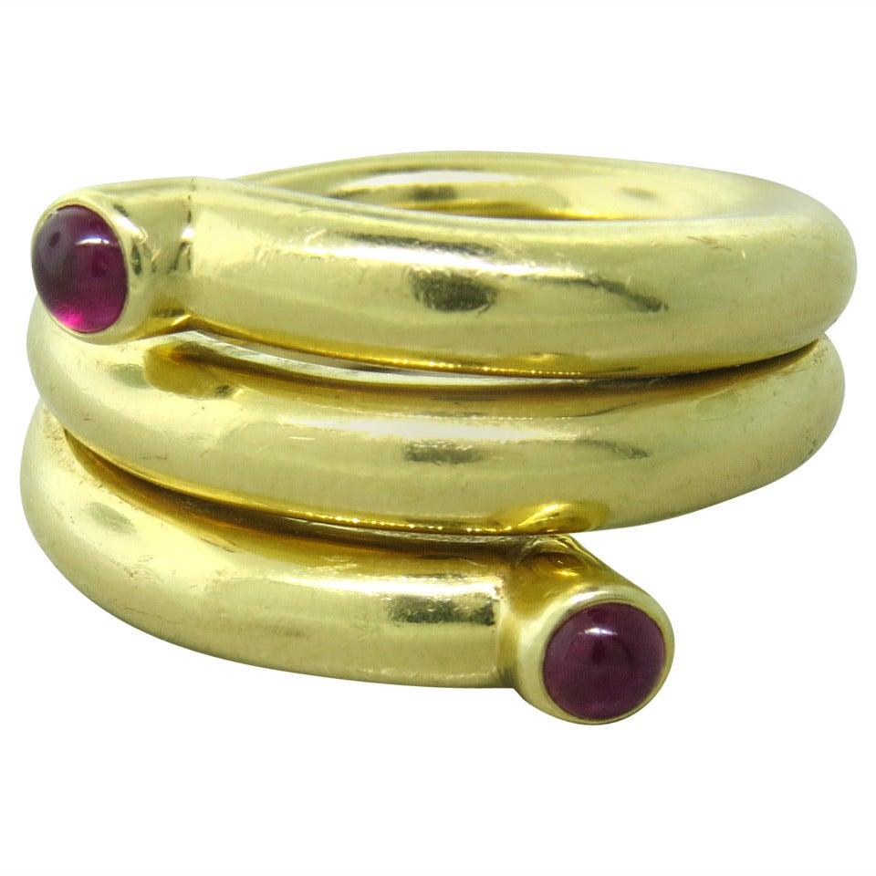Diamond Coil Ring