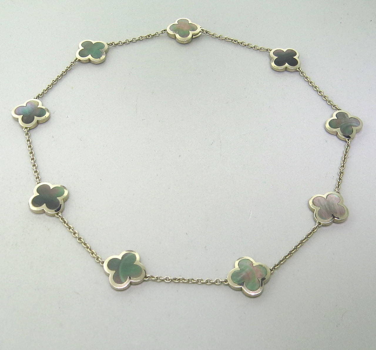 743a2a9c0e94 Van Cleef   Arpels 18k white gold necklace from iconic Alhambra collection