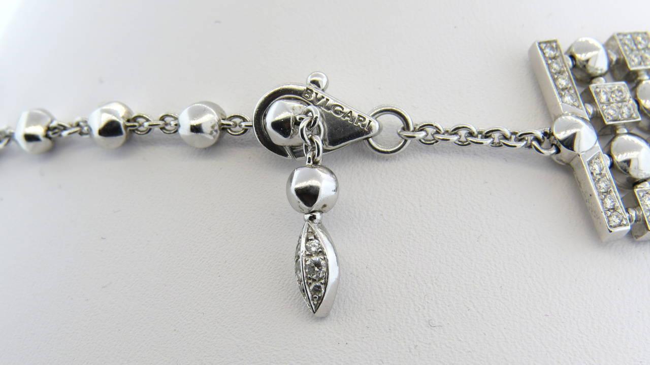 Women's Gorgeous Bulgari Lucea Diamond Gold Choker Necklace For Sale