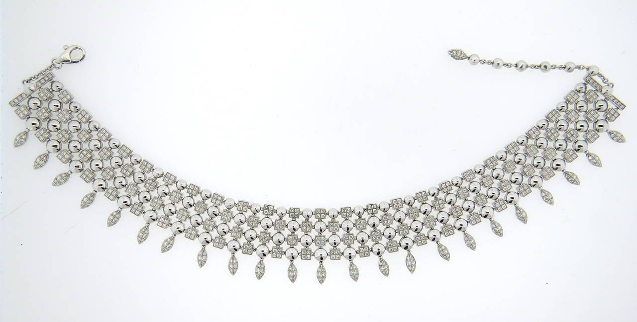 Gorgeous Bulgari Lucea Diamond Gold Choker Necklace 5