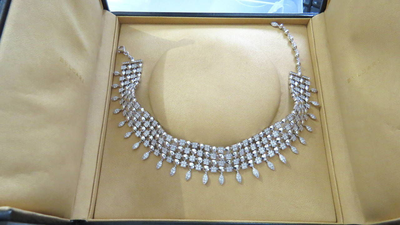 Gorgeous Bulgari Lucea Diamond Gold Choker Necklace 6